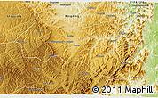 Physical 3D Map of Xiyang