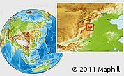 Physical Location Map of Xiyang