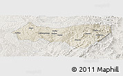 Shaded Relief Panoramic Map of Xiyang, lighten