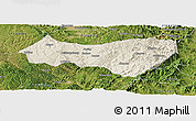 Shaded Relief Panoramic Map of Xiyang, satellite outside