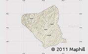 Shaded Relief Map of Yushe, cropped outside