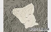 Shaded Relief Map of Yushe, darken