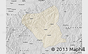 Shaded Relief Map of Yushe, desaturated