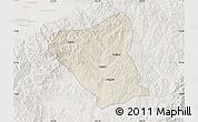 Shaded Relief Map of Yushe, lighten