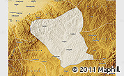 Shaded Relief Map of Yushe, physical outside