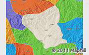 Shaded Relief Map of Yushe, political outside