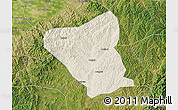 Shaded Relief Map of Yushe, satellite outside
