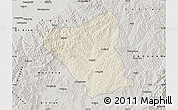 Shaded Relief Map of Yushe, semi-desaturated