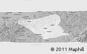 Gray Panoramic Map of Yushe