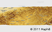 Physical Panoramic Map of Yushe