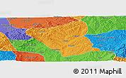 Political Panoramic Map of Yushe