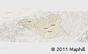 Shaded Relief Panoramic Map of Yushe, lighten