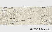 Shaded Relief Panoramic Map of Yushe
