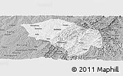 Gray Panoramic Map of Zuoquan