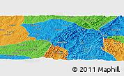 Political Panoramic Map of Zuoquan