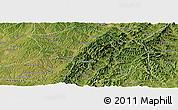 Satellite Panoramic Map of Zuoquan