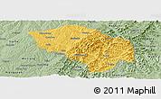Savanna Style Panoramic Map of Zuoquan