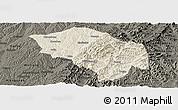 Shaded Relief Panoramic Map of Zuoquan, darken