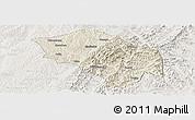 Shaded Relief Panoramic Map of Zuoquan, lighten