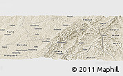 Shaded Relief Panoramic Map of Zuoquan