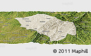 Shaded Relief Panoramic Map of Zuoquan, satellite outside