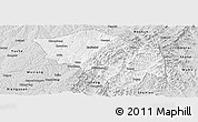 Silver Style Panoramic Map of Zuoquan