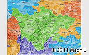 Political Shades 3D Map of Sichuan
