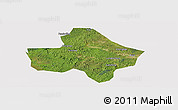 Satellite Panoramic Map of Anyue, cropped outside
