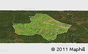 Satellite Panoramic Map of Anyue, darken
