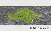 Satellite Panoramic Map of Anyue, desaturated