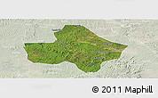 Satellite Panoramic Map of Anyue, lighten