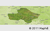 Satellite Panoramic Map of Anyue, physical outside