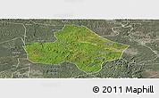 Satellite Panoramic Map of Anyue, semi-desaturated
