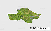 Satellite Panoramic Map of Anyue, single color outside