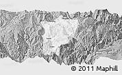 Gray Panoramic Map of Butuo
