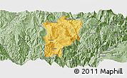 Savanna Style Panoramic Map of Butuo