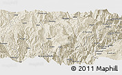 Shaded Relief Panoramic Map of Butuo