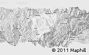 Silver Style Panoramic Map of Butuo