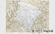 Classic Style Panoramic Map of Daocheng