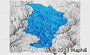 Political Panoramic Map of Daocheng, physical outside