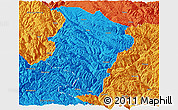 Political Panoramic Map of Daocheng