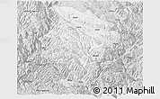 Silver Style Panoramic Map of Daocheng