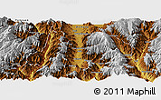 Physical Panoramic Map of Dechang