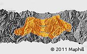 Political Panoramic Map of Dechang, desaturated