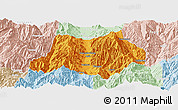 Political Panoramic Map of Dechang, lighten