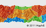 Political Panoramic Map of Dechang