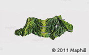 Satellite Panoramic Map of Dechang, cropped outside