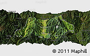 Satellite Panoramic Map of Dechang, darken