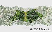 Satellite Panoramic Map of Dechang, lighten