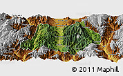 Satellite Panoramic Map of Dechang, physical outside